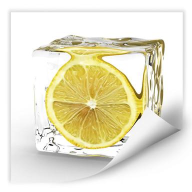 Wallprint Zitroneneiswürfel