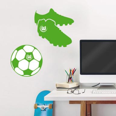 Wandtattoo VfL Wolfsburg - Fussballschuhe