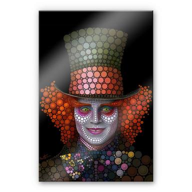 Acrylglasbild Ben Heine - Circlism: Johnny Depp der Hutmacher