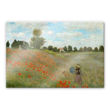 Acrylglasbild Monet - Mohnfeld bei Argenteuil