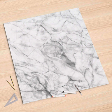 Folienbogen (90x90cm) - Marmor weiss