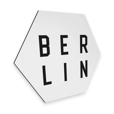 Hexagon - Alu-Dibond - Typografie Berlin
