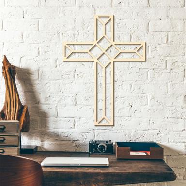 Holzkunst Pappel - Origami Kreuz