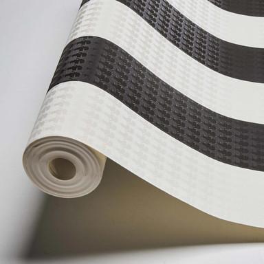 Karl Lagerfeld Wallpaper Vliestapete Stripe schwarz, weiss