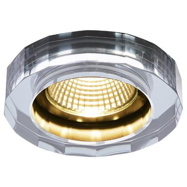LED Deckeneinbauleuchte Crystal Dl in Chrom 7.3W 460lm