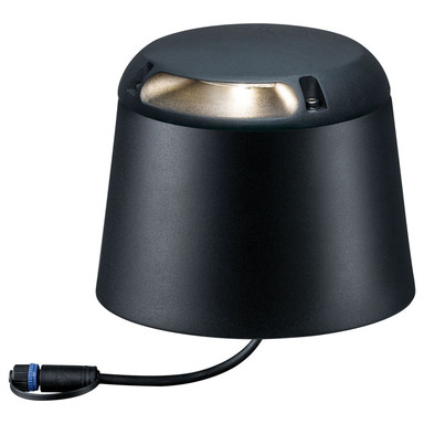 LED Plug & Shine Bodenaufbauleuchte in anthrazit IP67 3W 24V