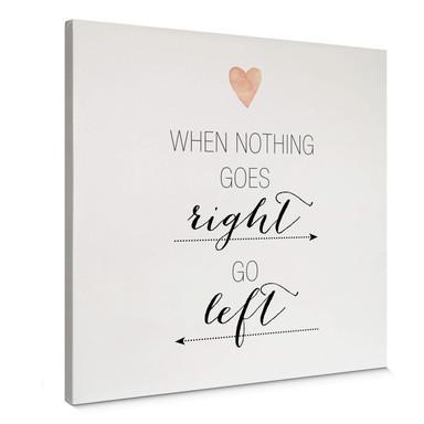 Leinwandbild Confetti & Cream - When nothing goes right