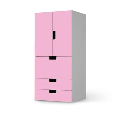 Möbelfolie IKEA Stuva / Malad - 3 Schubladen und 2 kleine Türen - Pink Light