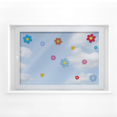 Fensterbild Kinderblütenset