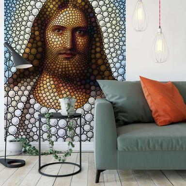 Fototapete Ben Heine - Circlism: Jesus Christus