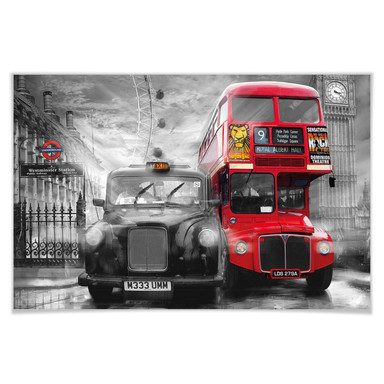 Giant Art® XXL-Poster Taxi & Bus - 175x115cm