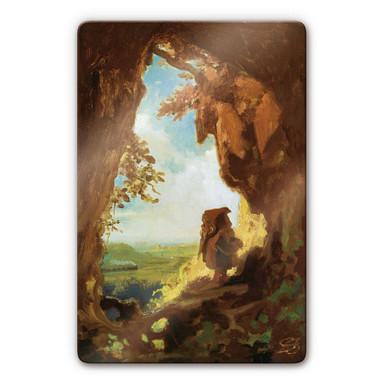 Glasbild Spitzweg - Gnom vor Höhle