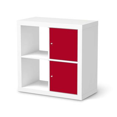 Klebefolie IKEA Expedit Regal 2 Türen (hoch) - Rot Dark