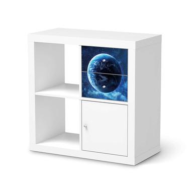 Möbelfolie IKEA Kallax Regal Schubladen - Planet Blue