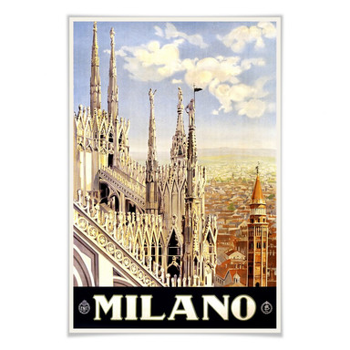 Poster Vintage Travel - Milano