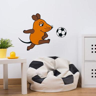 Wandsticker Die Maus spielt Fussball