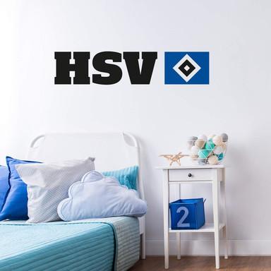 Wandsticker HSV Logo mit Schriftzug
