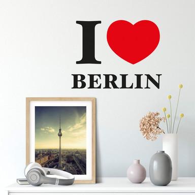 Wandsticker I love Berlin