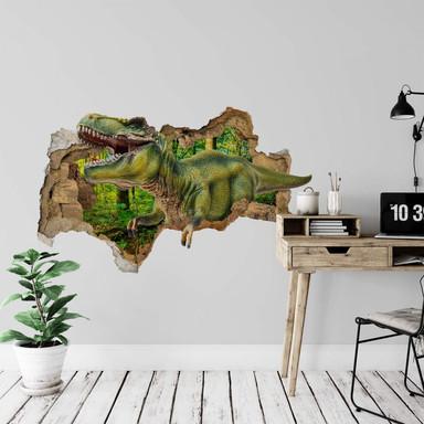 3D Wandtattoo T-Rex aus dem Wald