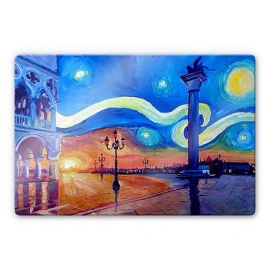 Glasbild Bleichner - Venedig bei Nacht
