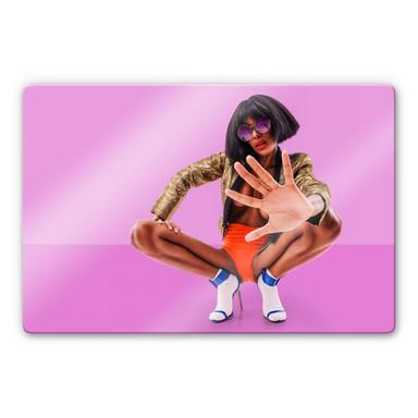Glasbild Carvalho - Disco Glamour: Push it