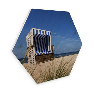 Hexagon - Holz Birke-Furnier - Strandkorb
