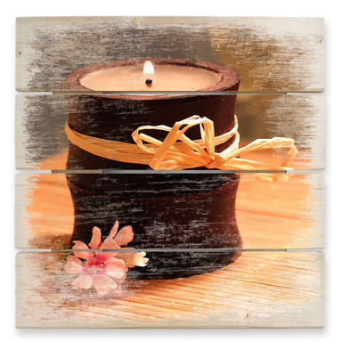 Holzbild Wellness Candle
