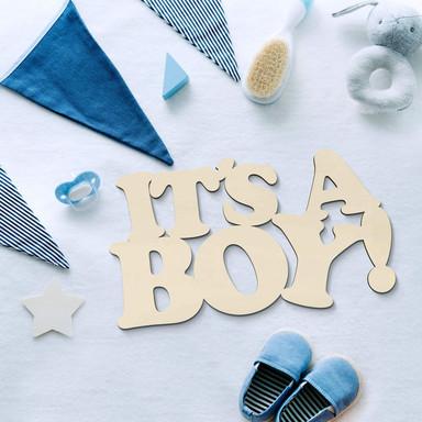 Holzdeko Pappel - It's a Boy
