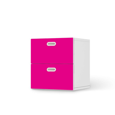 Klebefolie IKEA Stuva / Fritids Kommode - 2 Schubladen - Pink Dark- Bild 1