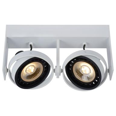 LED Deckenstrahler Griffon in Weiss GU10 2x12W 1640lm