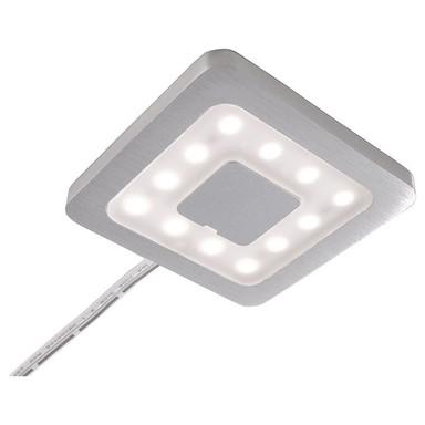 LED Möbelaufbauleuchte Paty Eckig in Silber-Satiniert 2.5W 160lm