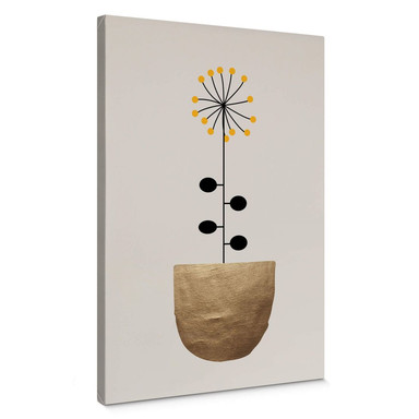 Leinwandbild Kubistika - kleine Sonnenblume