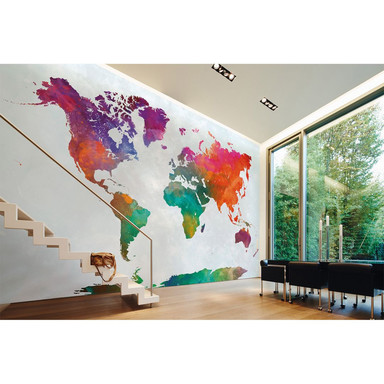 Livingwalls Fototapete Designwalls Global Map Weltkarte - Bild 1