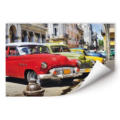 Wallprint Cuba Cars