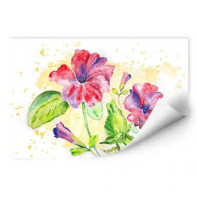 Wallprint Toetzke - Leuchtender Blütenkelch
