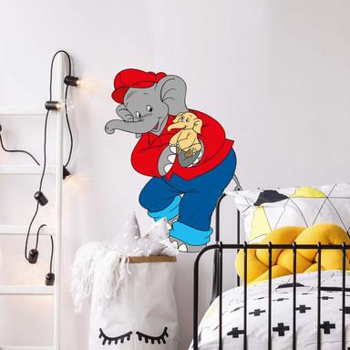 Wandsticker Benjamin Blümchen mit Babyelefant