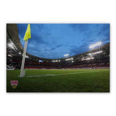 Alu Dibond Bild VfB Stuttgart Arena Nacht