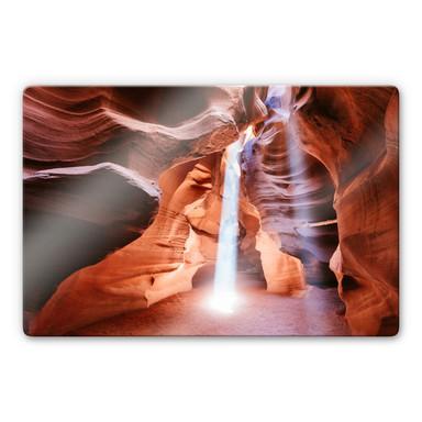 Glasbild Colombo - Sonnenstrahlen im Antelope Canyon