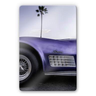 Glasbild Ochlich - Violet Oldtimer