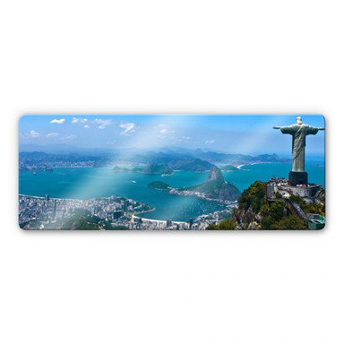 Glasbild Rio de Janeiro - Panorama
