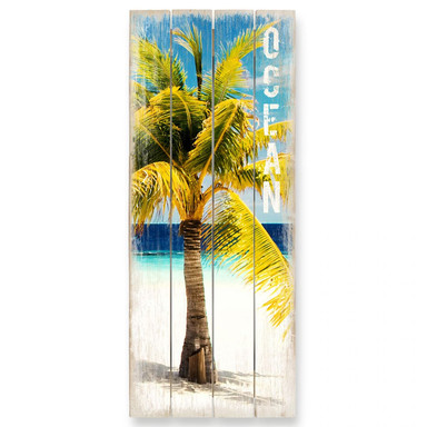 Holzbild Paradise - Ocean - Panorama
