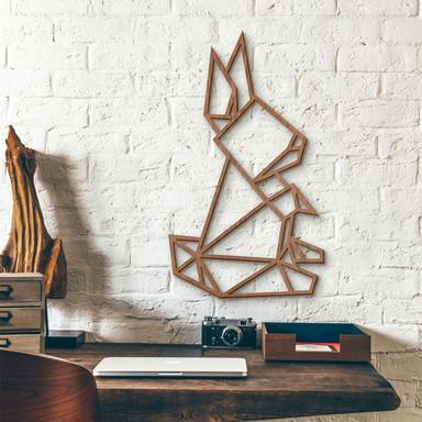Holzkunst Mahagoni - Origami Hase
