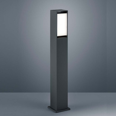 LED Wegeleuchte Isy in Graphit und Transparent-satiniert 12.6W 800lm IP54