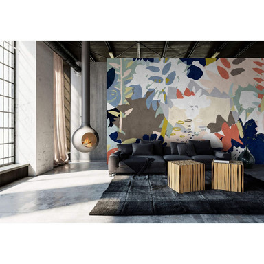 Livingwalls Fototapete Walls by Patel 2 floral collage 4 - Bild 1