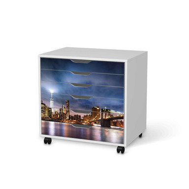 Möbelfolie IKEA Alex Rollcontainer 6 Schubladen - Brooklyn Bridge