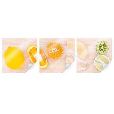 Poster Limonaden-Rezept (3-teilig)