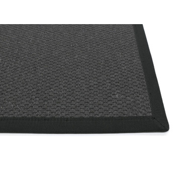 Saba Wollweb 3cm Bordürenteppich | Wunschmass | Rechteckig | Black | Schwarz 40