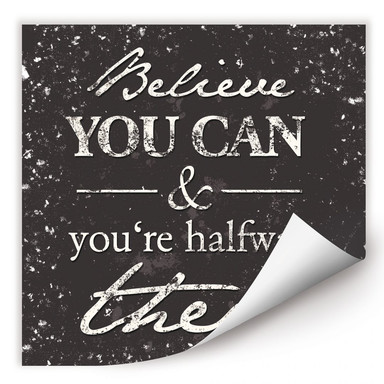 Wallprint - Believe you can