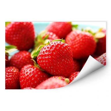 Wallprint Erdbeeren aus dem Garten