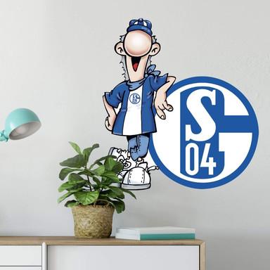 Wandsticker Schalke 04 Erwin